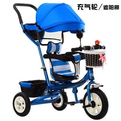 儿童三轮车高端折叠车旋转座椅手推车宝宝脚踏车1-5