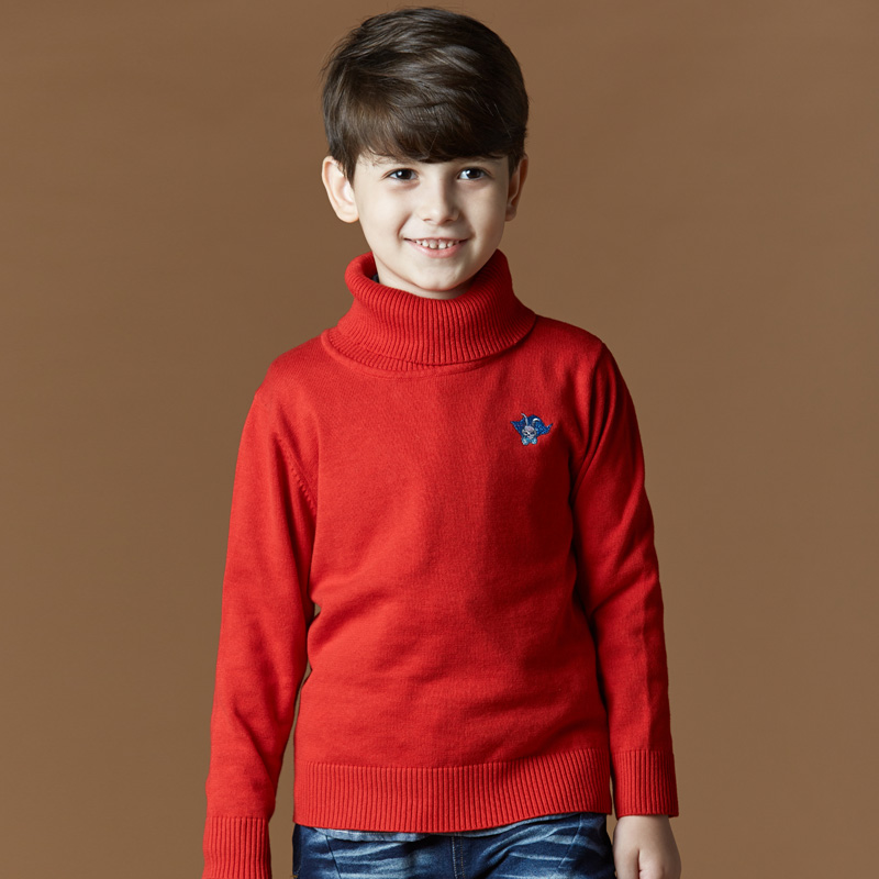 Color classification: Thin red Turtleneck Sweater