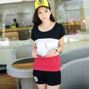 【包邮】韩版运动套装女款休闲套装 女 夏装短裤 时尚