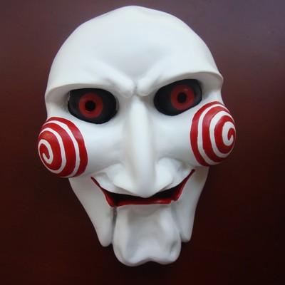 万圣节cos电锯惊魂面具恐怖舞会派对白色杀人狂恶魔化妆假面男士