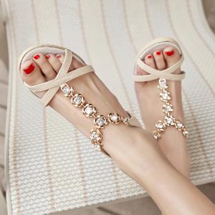 【包邮】新款韩版坡跟女士凉鞋高跟罗马女鞋新品厚底女鞋子