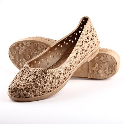 2015新款539春季塑料新款甜美女式菊花包头防滑日常变色低帮凉鞋