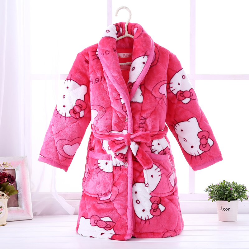 Color classification: Quilted padded robe rose KT
