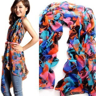 【包邮】围巾披肩两用纱巾百搭遮阳空调披肩