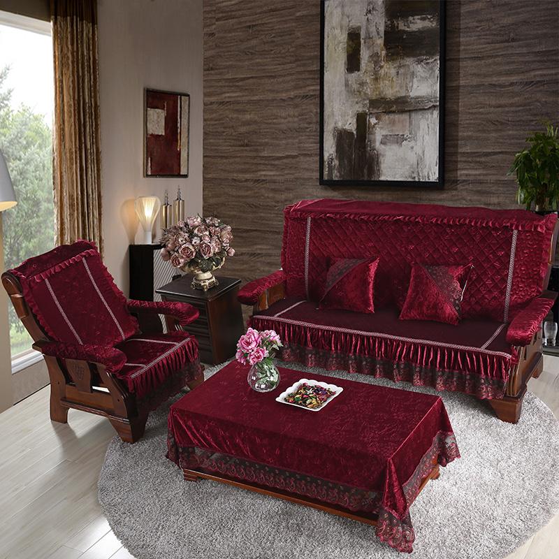 【皇室宠儿官网】皇室宠儿木沙发坐垫带靠背加厚可红