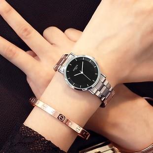 手表女韩版时尚男士手表学生表男表夜光情侣表超薄石英表女士手表