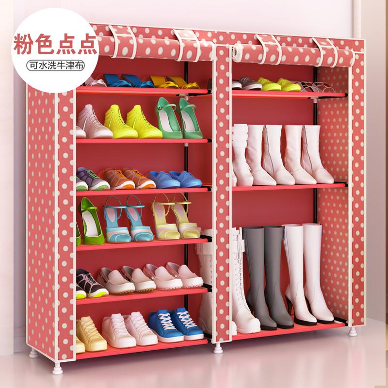 Цвет: Ботинки розовые точки