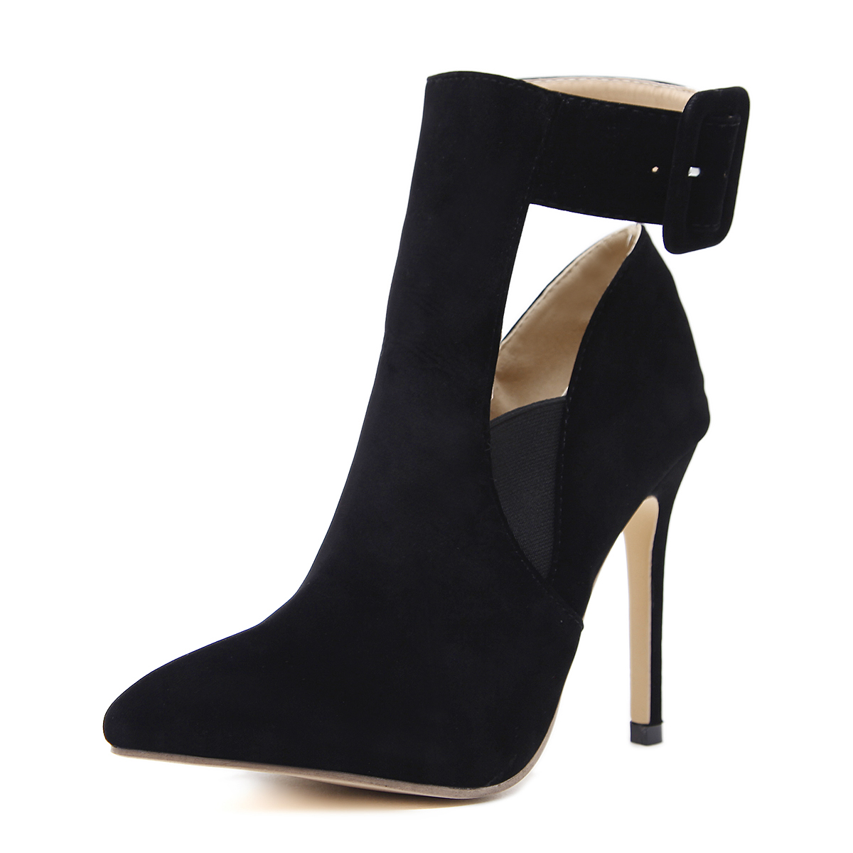 Pointed high heels boots