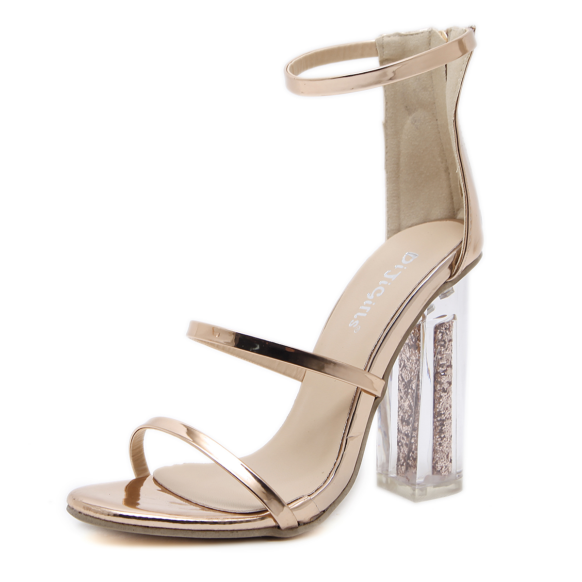 Shining golden sand high-heeled sandal's main photo