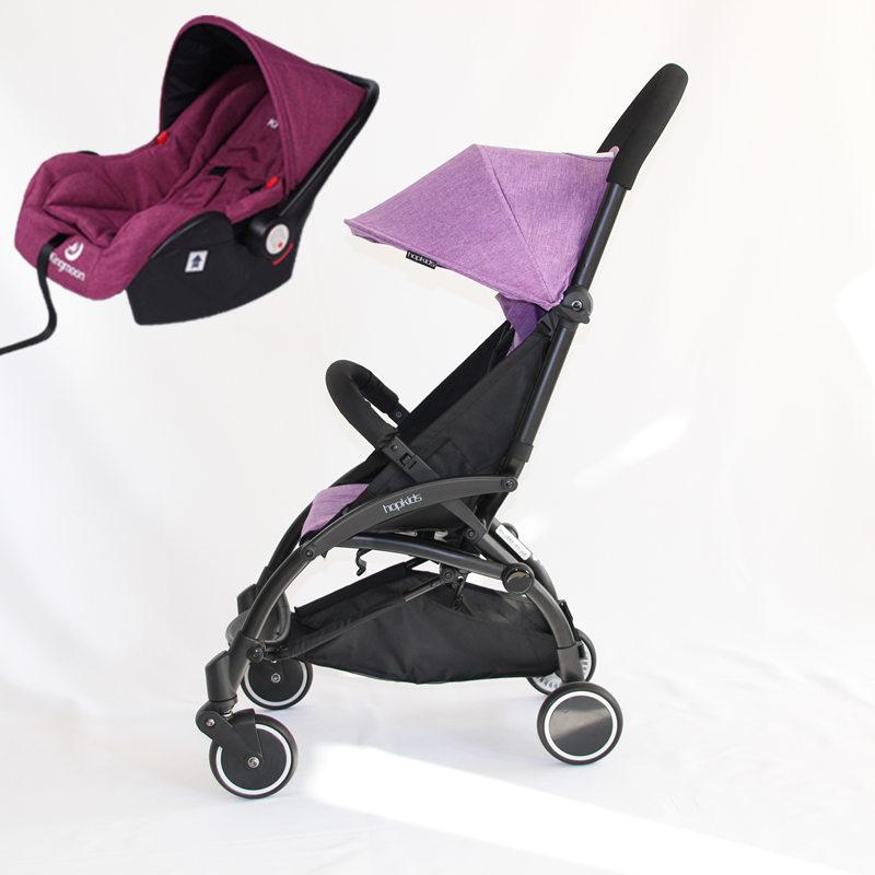 Цвет: Фиолетовый автомобиль+красный люлька+адаптер
