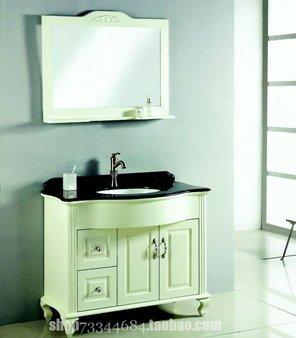 欧式古典浴室柜/实木梳洗柜/白色田园卫浴柜/卫浴家具/法式落地柜2525.00元