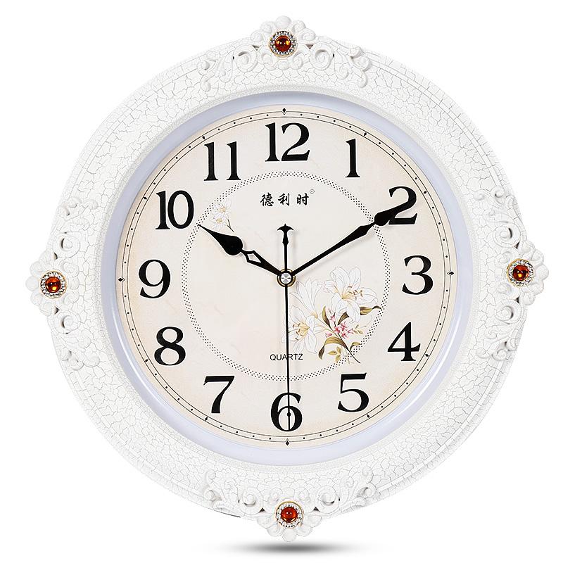 现代客厅时钟欧式田园挂表个性时尚钟表创意石英钟