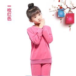 2017春秋新款男童女童卫衣中大童羊毛抓绒运动套装打底休闲两件套