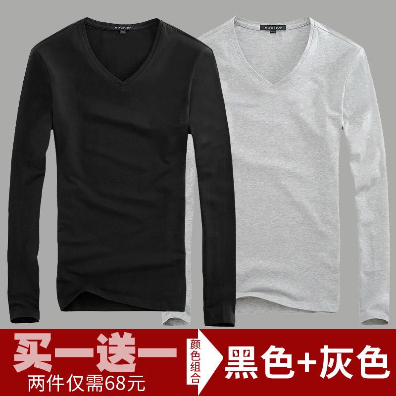 Color: V neck black + gray