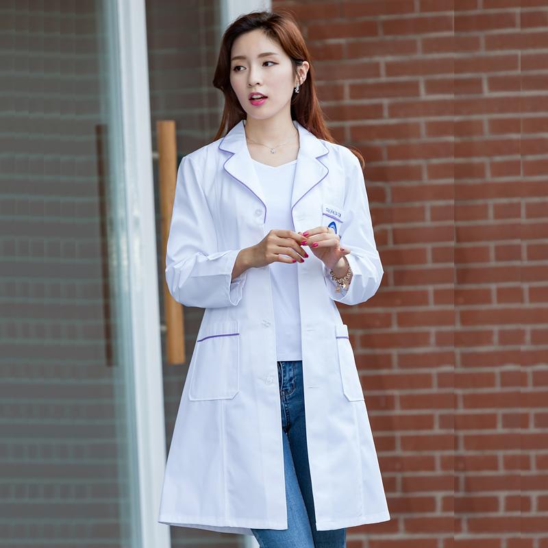 Цвет: женский Корейский Белый Фиолетовый окантовка (с длинными рукавами полька