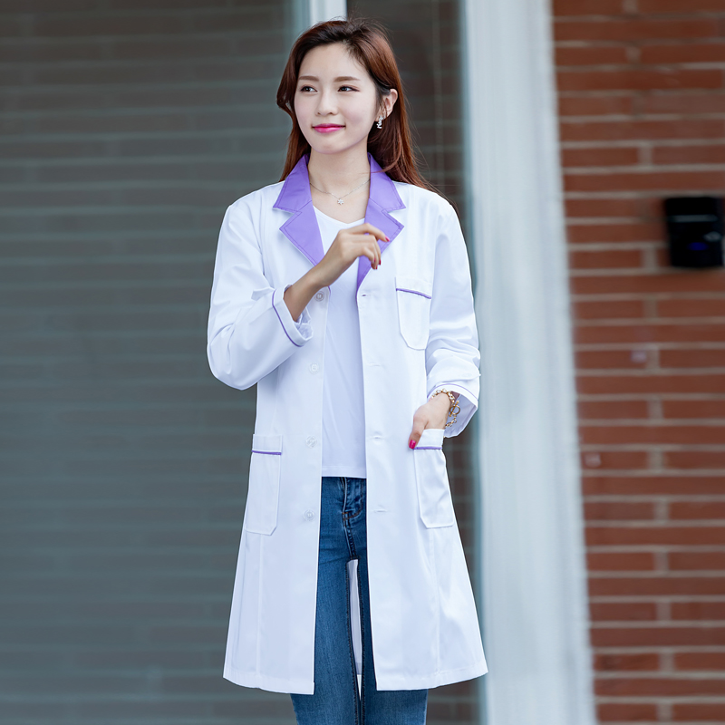 Color classification: Female Korean white collar long sleeves with a naked