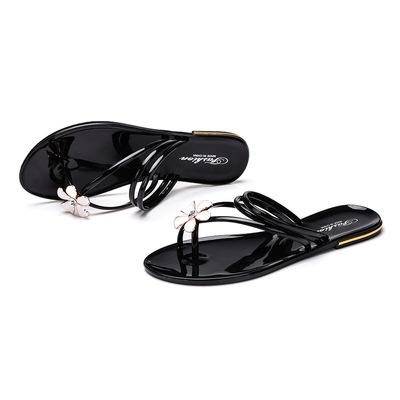 Summer Korean new folder toe sandals flat sandals Rome flat sandals with flat sandals beach sandals student shoes