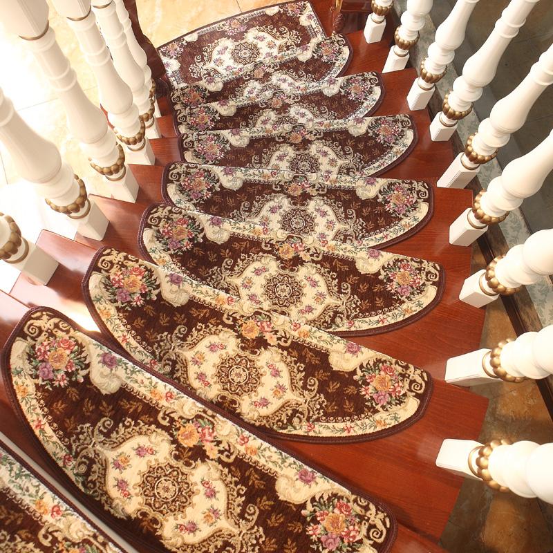 欧式楼梯垫免胶自粘木楼梯踏步垫防滑自吸楼梯转角转