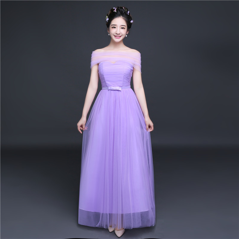 Color classification: Purple one shoulder