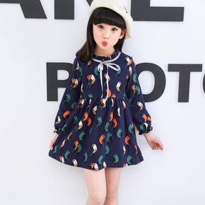 2017新款女孩韩版公主裙儿童春装连衣裙