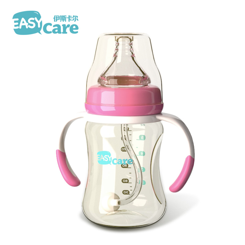 伊斯卡尔 PPSU奶瓶耐摔宽口径婴儿塑料奶瓶防胀气新生儿宝宝奶瓶
