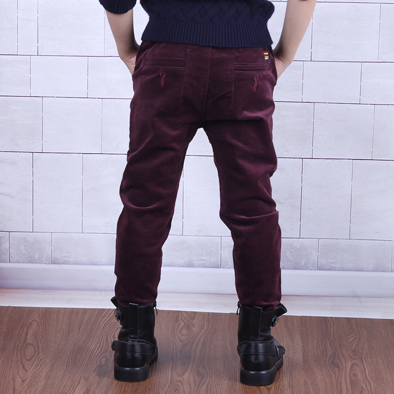 Color classification: Wine red spring pants