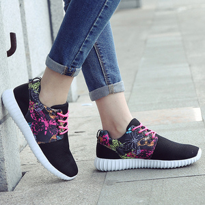 2016 spring and summer soft bottom flat shoes women anti-slip lightweight running shoes breathable mesh shoes casual shoes wild