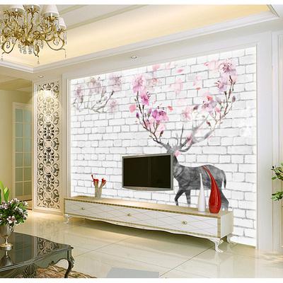 简约无缝5d客厅沙发电视背景墙壁纸