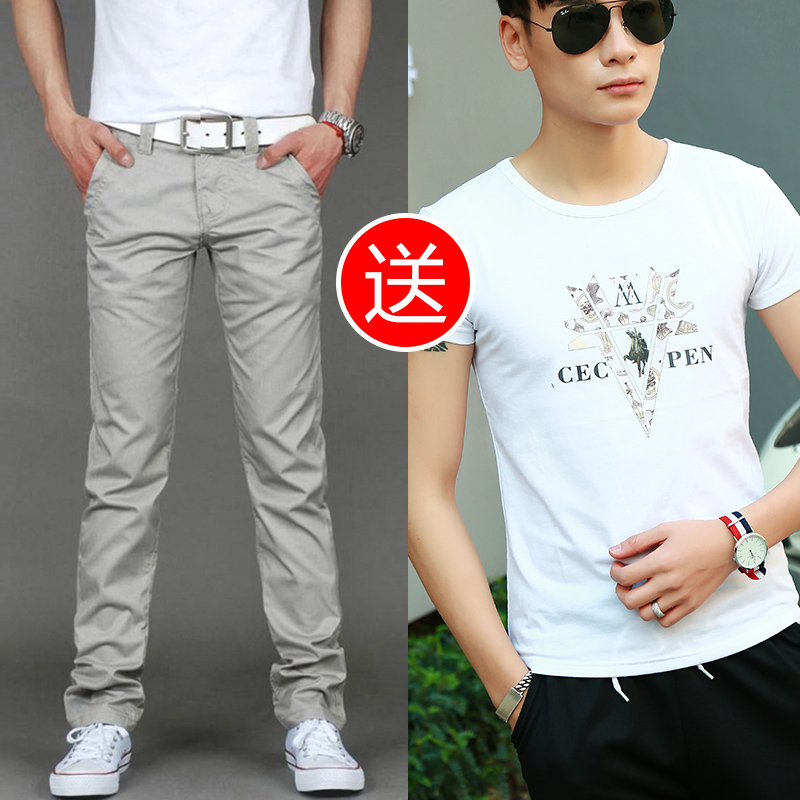 Color: 8006 shallow ash white t-Shirt