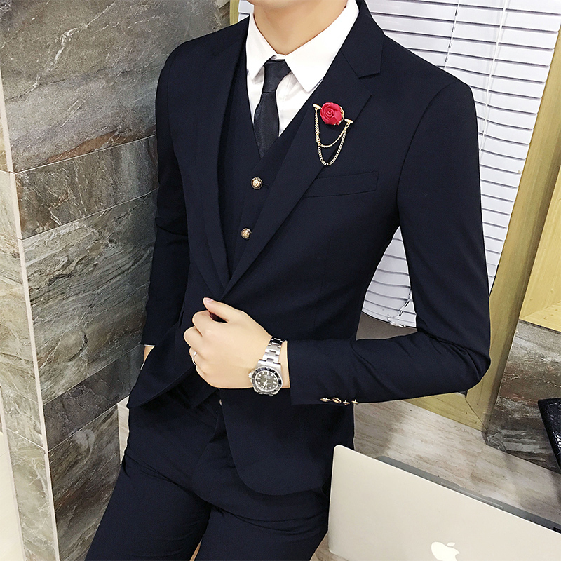 Color: Black suit