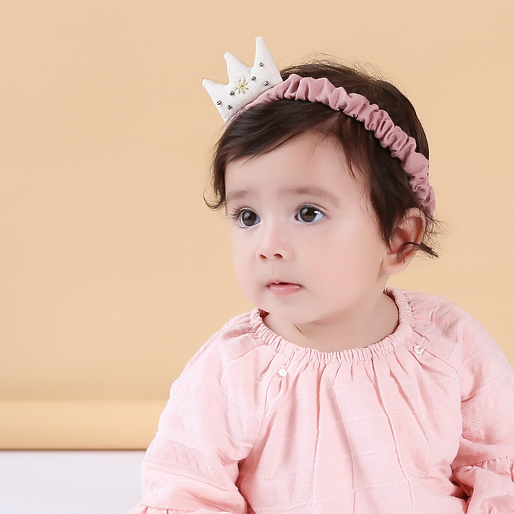 Color classification: Pink and Lavender cotton Crown headband