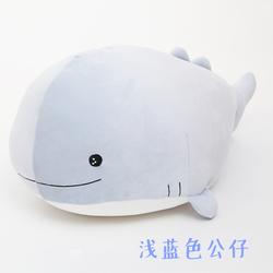卡通鲸鱼枕头抱枕被子靠垫暖手空调毯子午睡空调被毛绒玩具公仔