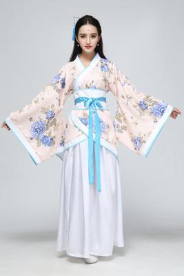 Цвет: Синий белый цветок платье