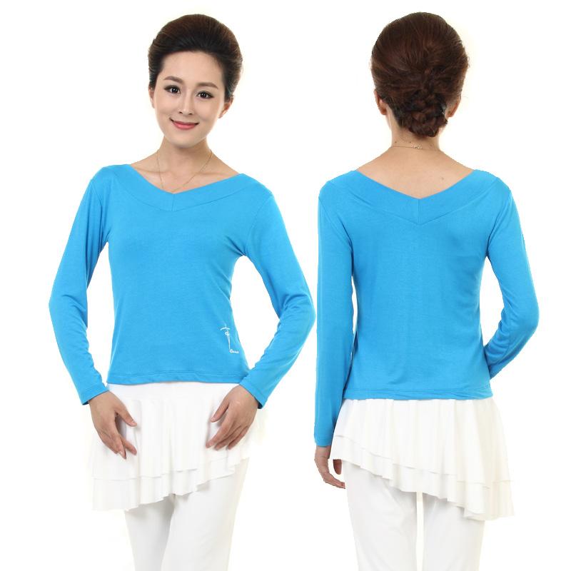 Цвет: Двойное с длинными рукавами V - чистый синий