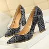 Thick Heel Pointed toe Shoes