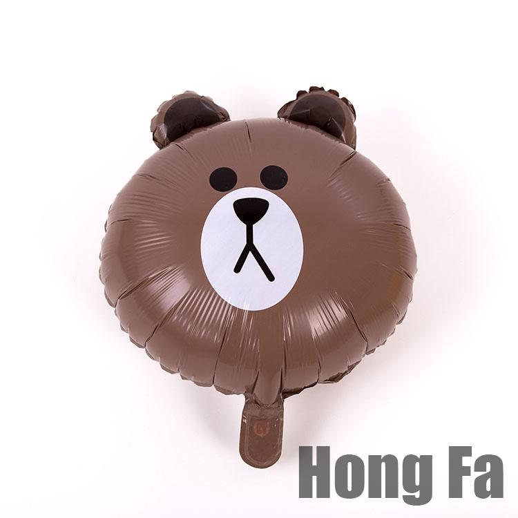 Цвет: Коричневый бурый медведь воздушный шар