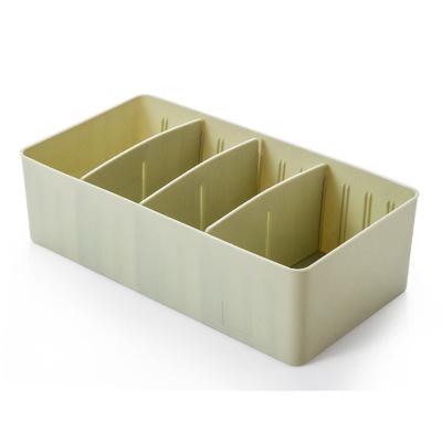 Plastic storage box separate desktop pantyhose socks storage box drawer classification underwear storage box