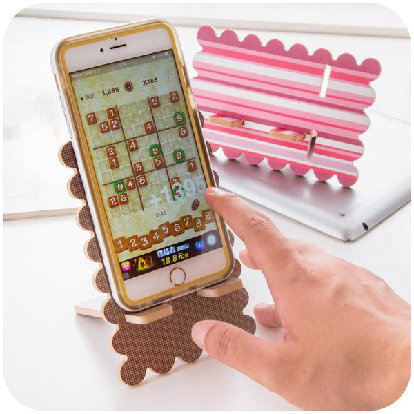Hình ảnh nguồn hàng Đế gỗ đỡ điện thoại gợn sóng dễ thương giá sỉ quảng châu taobao 1688 trung quốc về TpHCM