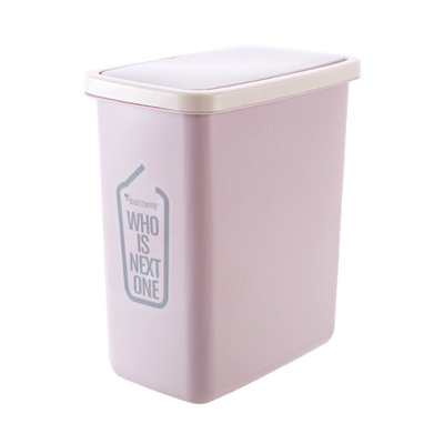 Plastic Flip Top Trash Kitchen Trash Can Bathroom Rectangle Shake Covered Trash Trash