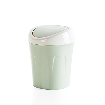Desktop shake cover trumpet trash parlor living room coffeebasket Creative home table mini trash can