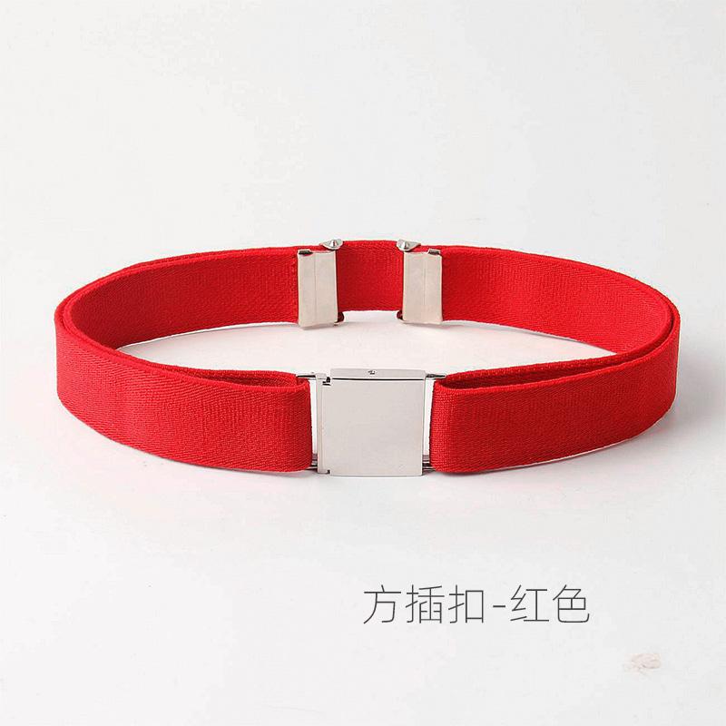 Цвет: Светло-серый #105 квадратной пряжкой-красный