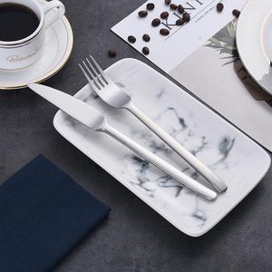 磨砂不锈钢西餐餐具牛排刀叉勺套装 刀叉套装两件套三件套四件套