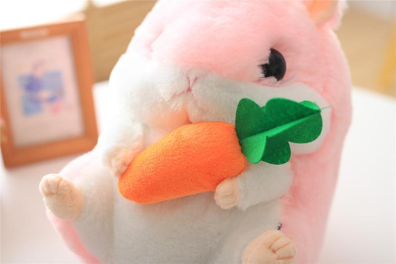 【乐哼哈奇官网】很萌很可爱小仓鼠公仔零食仓鼠玩偶