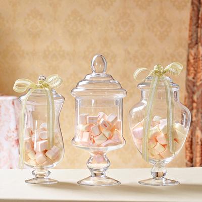 包邮特价新款欧式玻璃糖果罐子食品罐时尚婚庆生日家居摆件