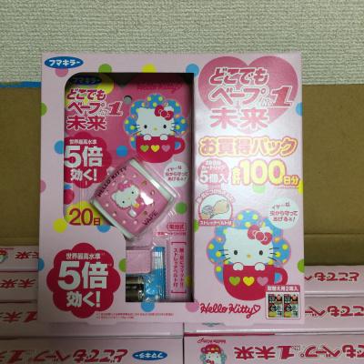 包邮 日本代购未来VAPE HelloKitty驱蚊手表+替换片2盒限定装
