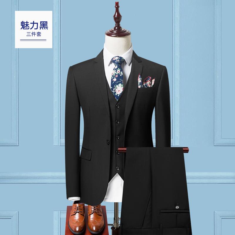 Color: 单扣魅力黑(西服套装+马夹)