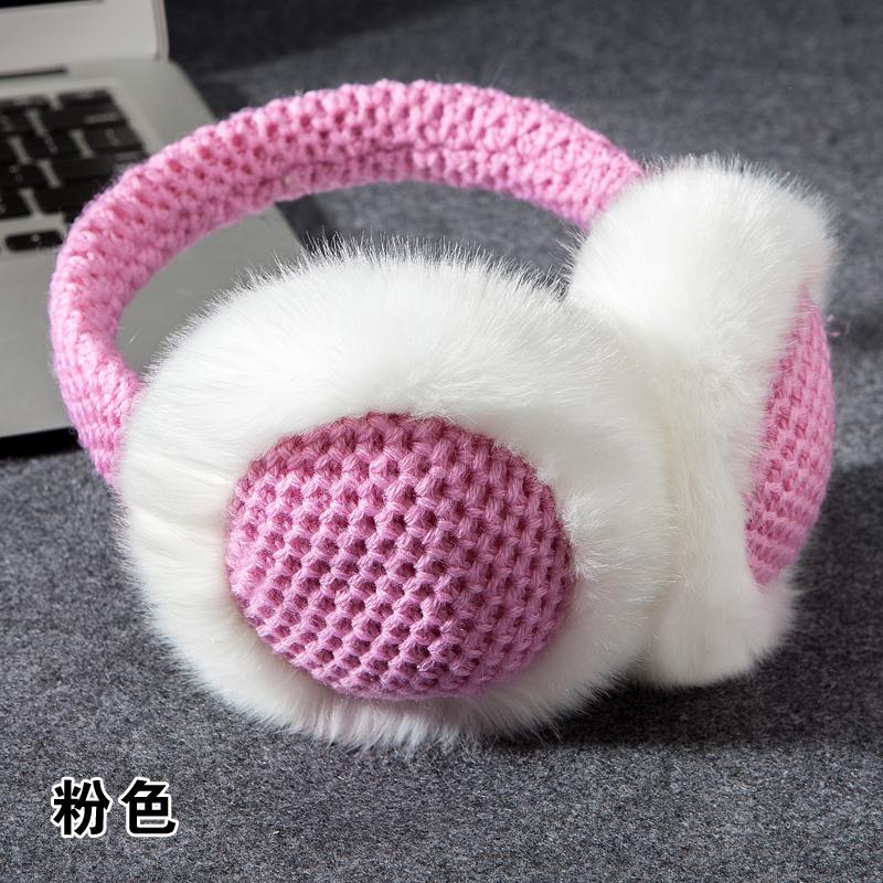 高仿万国iwc可爱仿兔毛针织耳罩耳暧ELU986