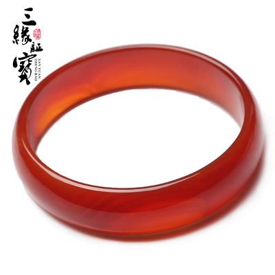 新款天然正品中国红玛瑙手镯民族首饰礼物女款
