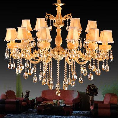 客厅水晶吊灯具餐厅灯饰卧室简约欧式艺术吊灯罩云石