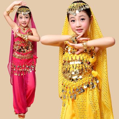 儿童印度舞蹈服装 六一舞蹈表演服女童少儿肚皮舞演出服套装新款